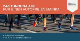 24h-Staffel-Lauf für einen autofreien Mainkai