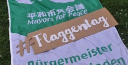 """8. Juli: Flaggentag gegen Atomwaffen der """"Mayors for Peace"""""""