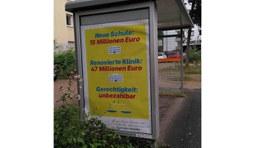 Adbusting für Vermögensabgabe: Gefälschte Plakate in Frankfurt und Darmstadt aufgehängt