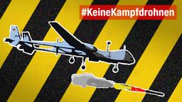 Bewaffnete Drohnen stoppen! Jetzt aktiv werden und E-Mail an Abgeordnete schreiben