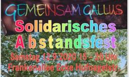 Gemeinsam Gallus - solidarisches Abstandsfest