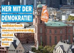 Her mit der Demokratie! Attac-Aktivisten besetzen Frankfurter Paulskirche