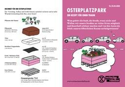 OsterPlatzPark-Aktion von Extinction Rebellion Frankfurt verwandelt Parkplätze in grüne Beete