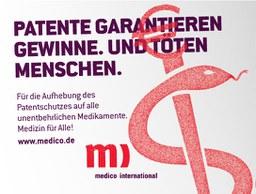 """Petition """"Für die Aufhebung des Patentschutzes auf alle unentbehrlichen Medikamente"""""""