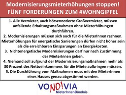 VoNO!via-MieterInnenbündnis fordert: Modernisierungs-Mieterhöhungen stoppen!