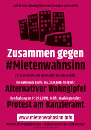 Zusammen gegen #Mietenwahnsinn!